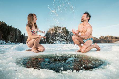 vinterbadning for par