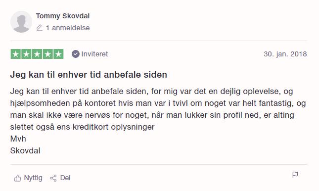 Senior.dk trustpilot
