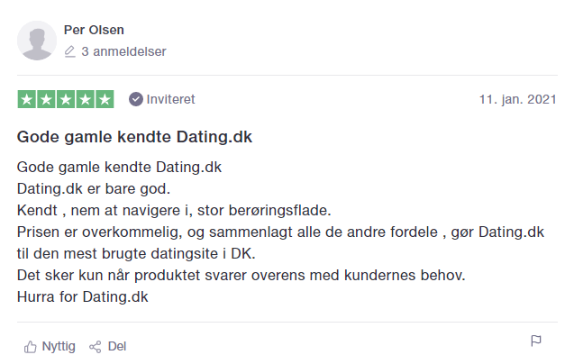 dating.dk trustpilot anmeldelser