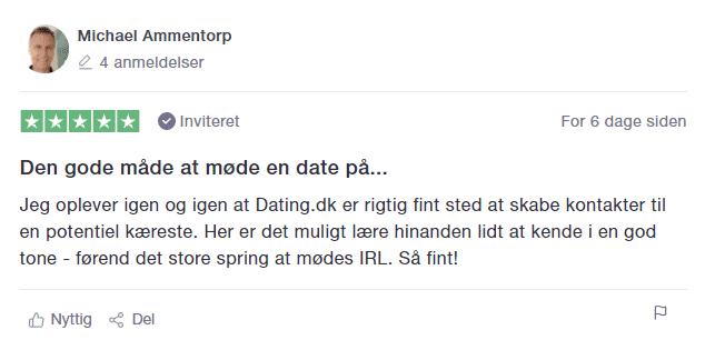 trustpilot dating.dk